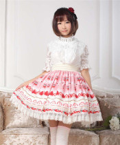 Strawberry Cake Lady Lolita Skirt