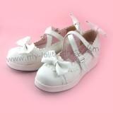 Pretty Bows Girls Lolita Flat Shoes