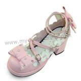 Golden Bows Cute Girls Shoes
