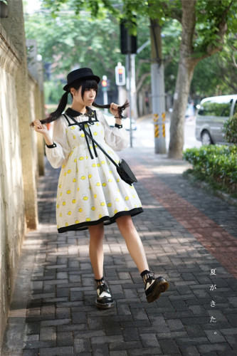 R-series -Sweet Honey Bees-  Lolita Jumper Dress
