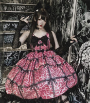 Diamond Honey ~Leopard Cat Gothic Lolita JSK -Ready Made