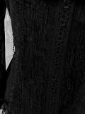 Chiffon Tailored Vintage Lolita Blouse White Size XL - In Stock