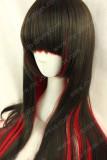Gothic Harajuku Style Black Red 80cm Lolita Wig