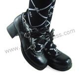 Black Side Bow Lolita Shoes