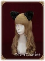 Cutie Creator ~Black Cat~ Cat Ears Bow Lolita Hairclip