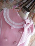 Pink Long Sleeves Lace Lolita A-line Coat Pink Size S In Stock
