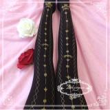 Sweet Gold-stamping Lolita Tights