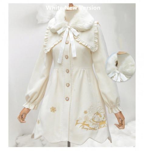 2019 Winter Sweet High Waist Lolita Long Coat