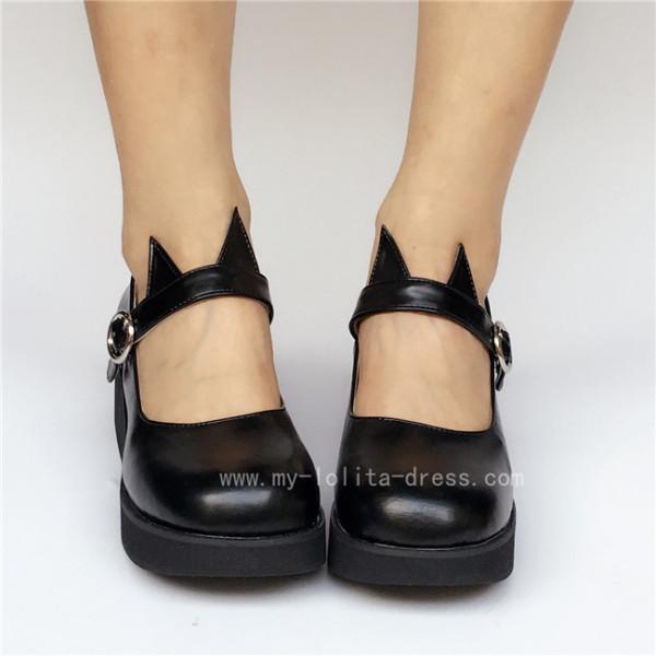 Sweet Girls' Black Matte Lolita Shoes