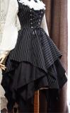 Gothic Stripe Irregular Hemline Lolita Jumper