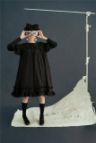 Vintage Unicolor Babydoll Style Peterpan Collar Lolita OP - Ready Made