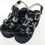 Beautiful White Matte Dots Lolita High Platform Shoes