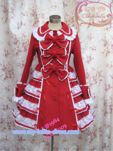 Beautiful Bows Lolita Winter Princess Coat