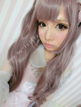 Purple Brown Curls Lolita Wig