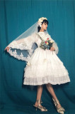 Flower Love ~Elegant Lolita JSK + Headdress Bridal Design
