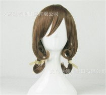 Girl's Sweet Dark Brown Lolita Wig with Cute Two Plaits