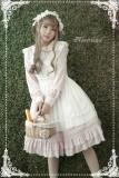 Rosemarie~ Solid Color Lolita Long Sleeves OP Dress