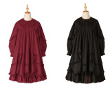 Daily wear Version Sweet Unicolor Lolita long sleeves OP- Ready Made