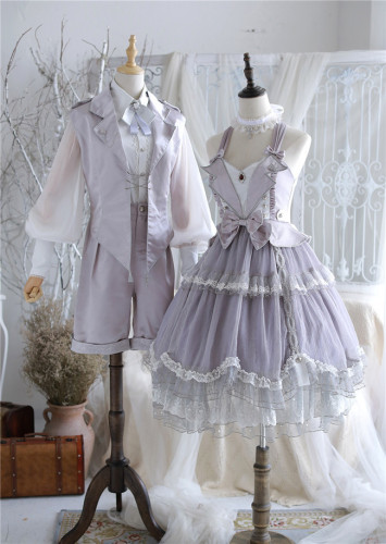 Passion Theme Dark Night and Silver Light Ouji Set/Dress -Ready Made