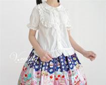 Sugar Trojan~ Sweet Set-in Sleeves Lolita Blouse -Short/Long Sleeves 2 Ways -Pre-order