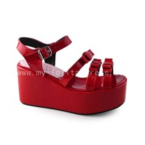 Beautiful Red Platform Shoes