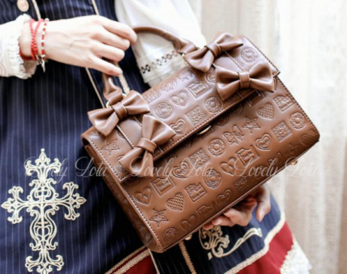 Embossed Chocolate Dessert Lolita Cross-body Bag/Handbag