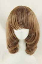 55cm Long Brown Purple Lolita Wig