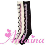Girls Cotton Knee High Stockings 2 Colors -out