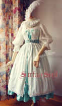 Surface Spell Romantic White Vintage Lolita OP Dress