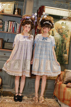 Antique Dolls ~Sweet Lolita OP Dress-Ready Made