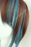 45cm Brown Blue Face Framing Lolita Wig