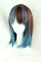 45cm Brown Blue Face Framing Lolita Wig