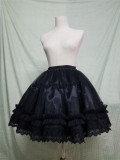Sweet Round-shaped Lolita Petticoat White/Black Available