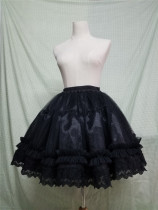 Sweet Round-shaped Lolita Petticoat White/Black Available