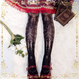 Arancia Lolita ~The Heart of Delevo Lolita Tights -In Stock