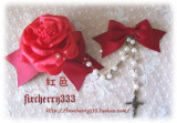 Sweet Rose and Bow Hairpin Set