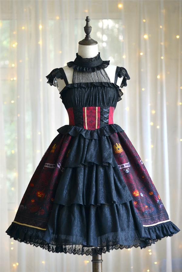 Halloween~ Halter Neckline Lolita JSK -out
