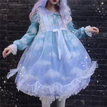 Summer Fairy~Petal Transparent Organza Over-skirt