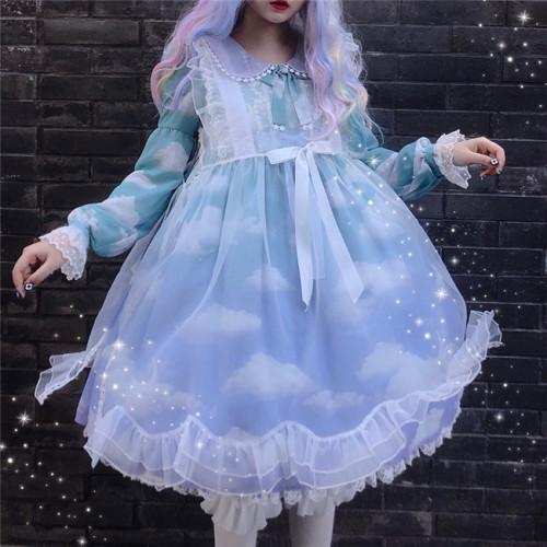 Summer Fairy~Petal Transparent Organza Over-skirt