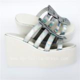 High platfrom Silver Glossy Lolita Sandals