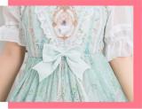 2018 Summer Slim Lolita Printed Jumper