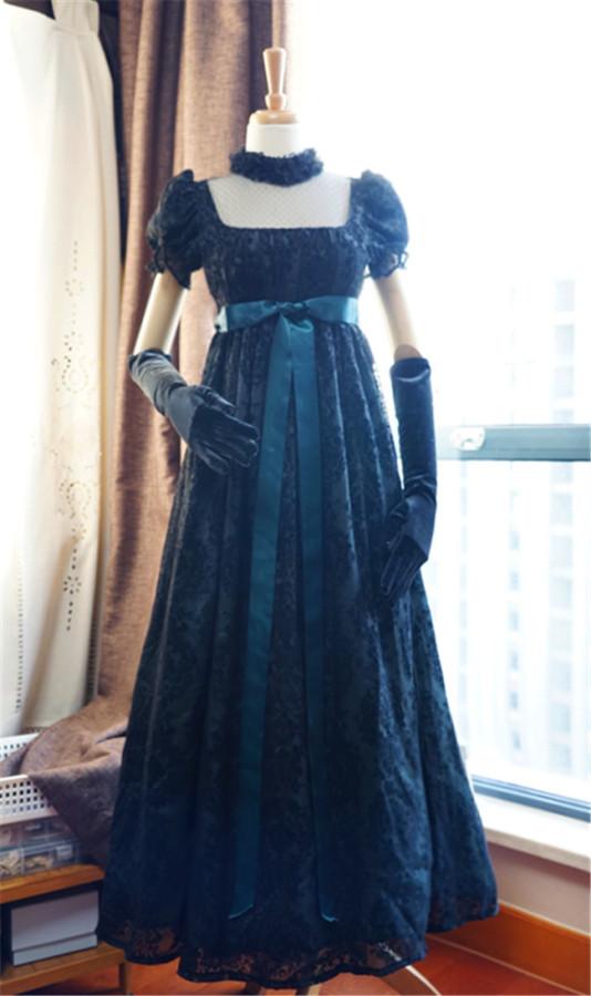 Josephine~ Gothic Chiffon Lolita High Waist Jumper