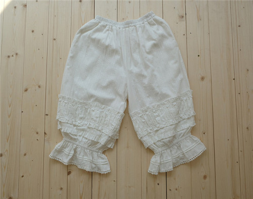Little Dipper Sweet Pure Cotton Jaquard Lolita Bloomer Long Version -Ready made