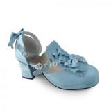 Girl's Sweet Sky Blue Lolita Heels Shoes