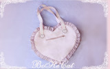 Mini Cat ~ Love Heart Canvas Bag