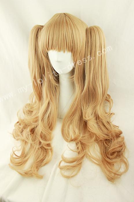 Golden Curls Lolita Wig 2 Ponytails