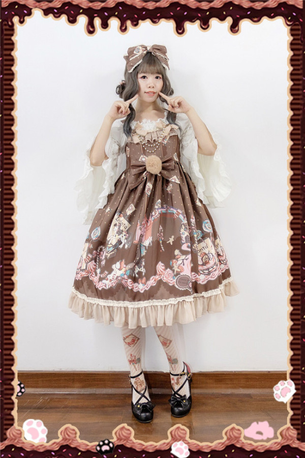 Candy Town~ Sweet Lolita JSK Dress -Valentine's Day Sp Series