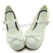 White Square Heels Lolita Shoes