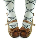Light Coffee Bows Lolita Shoes