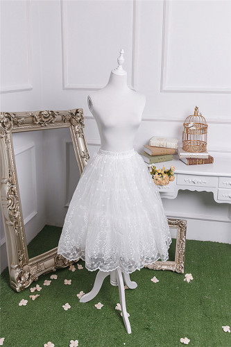Elegant Embroidery Organza Lolita Petticoat Short/Long Version -Ready Made